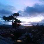 Evening view over Dalat from our balcony
