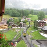 View from my room of the town of Wengen