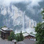 Staubach Falls, from the room, down in the Lauterbrunnen valley