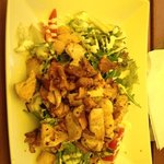 grilled chicken salad with bacon