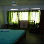 Double bedroom with fan
