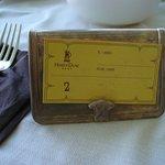 """la placchetta """"old style"""" di prenotazione del tavolo"""