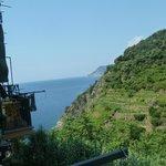 View from balcony towards the sea