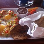 Huevos Rancheros with Veggie Patty