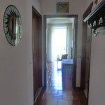 As you enter through the front door