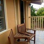 Lovely balcony seating