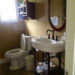 Roomy bathroom