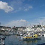 Leaving Guernsey Port on Trident Ferry on way to Herm