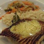 Restaurante Italiano Hotel Riu Bambu - salmão com creme de pistache
