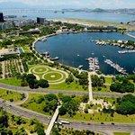 Vista aérea do Aterro do Flamengo
