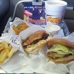 Swenson Burger, Fries, and a Milkshake! Yum!
