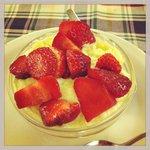 Crema alla vaniglia con fragole