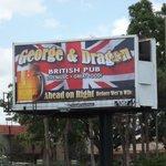 George & Dragon Billboard on International Drive