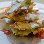 palak pakori chaat-d delicay at udaipuri