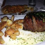 14 ounce filet with Hash Brown