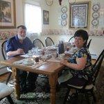 Enjoying breakfast in the dining area