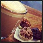 Truffle Trio and Cupcake Latte