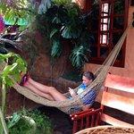 The hammock on the balcony