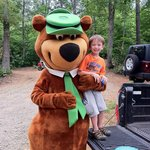 Yogi Bear visited our camp site!