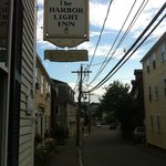 B&B Sign for Harbor Light Inn and Tavern