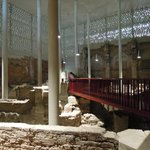 Roman ruins enclosed by the museum