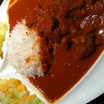 Lamb in red curry (lunch menu)