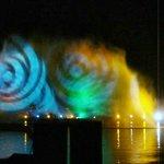 Klangwellen Velden = Laser und Wasser