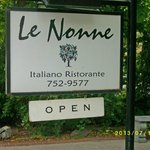 """Le Nonne"" is a bit hard to spot, but look for the sign."