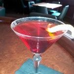 a pomegranate martini