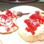 scone and jam