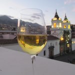 Chardonney and roof terrace!