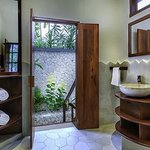 Ocean Bungalow Bath leading to private outdoor shower