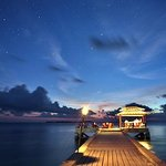 Stars light up the sky over the jetty bar.