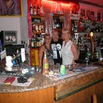 Me with Josie and Simon in the Elvis bar