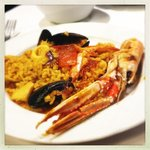 My portion of seafood paella