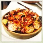 Starters: Galician style octopus seasoned with paprika