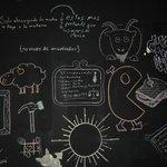 Chalkboard-wall art