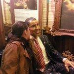 Obama posando para fotos