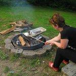 BBQ at cabin