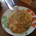 Gordita tipica asada a la plancha acompañada de salsa habanera
