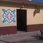 Fachada de La Antigüa en Cozumel