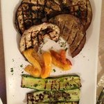 Mixed Grilled Vegetables.  Eggplant, peppers, Zucchini