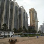 vistas do hotel da praia em frente