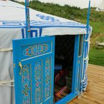 Front of our yurt