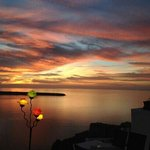 Wonderful sunset from Fanari restaurant Oia