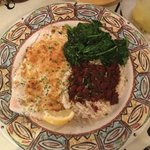 Whitefish with red beans and rice
