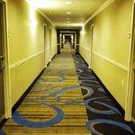 Corredor que dá acesso aos quartos
