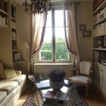 Sitting room with laptop