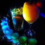 Long Island, Delicious Mango slush & rainbow shots!!