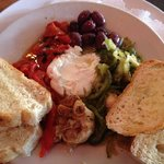 Roasted garlic and goat cheese appetizer